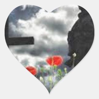 Lone Soldiers WW1 Heart Sticker