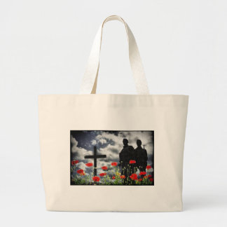Lone Soldiers WW1 Large Tote Bag