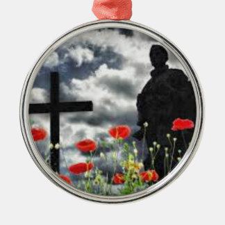 Lone Soldiers WW1 Metal Ornament