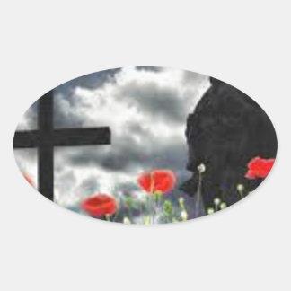 Lone Soldiers WW1 Oval Sticker