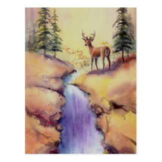 LONE STAG by SHARON SHARPE Postcard