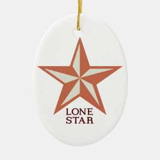Lone Star Ceramic Ornament