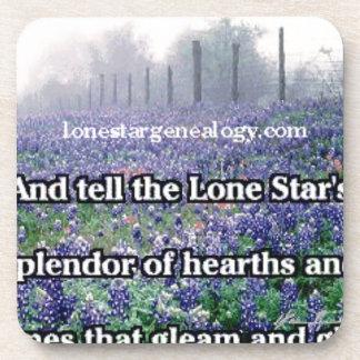 Lone Star Genealogy Poem Bluebonnet Coaster