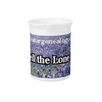 Lone Star Genealogy Poem Bluebonnet Pitcher