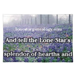 Lone Star Genealogy Poem Bluebonnet Placemat