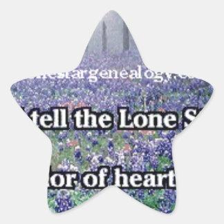 Lone Star Genealogy Poem Bluebonnet Star Sticker