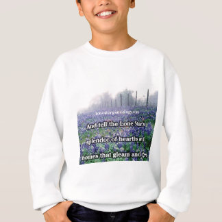 Lone Star Genealogy Poem Bluebonnet Sweatshirt
