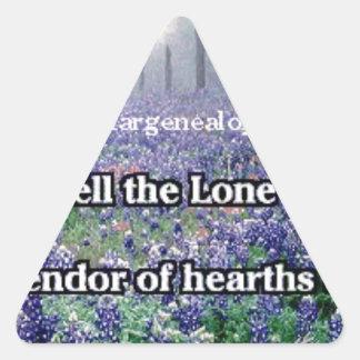 Lone Star Genealogy Poem Bluebonnet Triangle Sticker