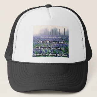 Lone Star Genealogy Poem Bluebonnet Trucker Hat