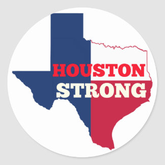 "Lone Star ""Houston Strong"" Classic Round Sticker"