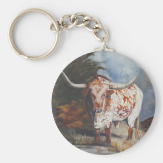 Lone Star Longhorn Key Ring