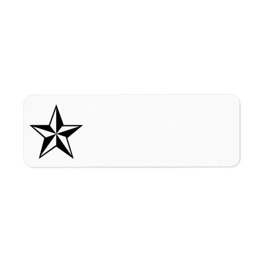 Lone Star Return Address Label