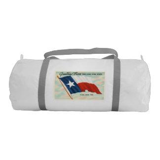 Lone Star State Texas TX Vintage Travel Souvenir Gym Duffel Bag