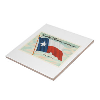 Lone Star State Texas TX Vintage Travel Souvenir Tile