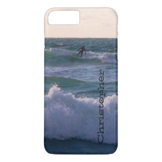 Lone Surfer at Fistral Beach Newquay Cornwall UK iPhone 7 Plus Case