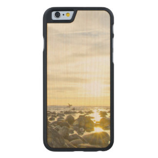 Lone Surfer Carved Maple iPhone 6 Case