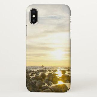 Lone Surfer iPhone X Case