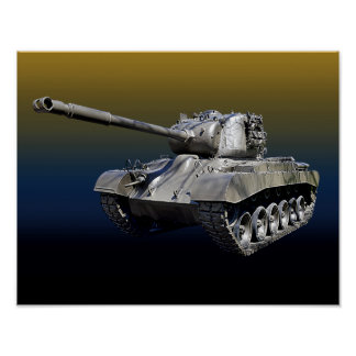 "Lone Tank - 14"" x 11"" Poster"