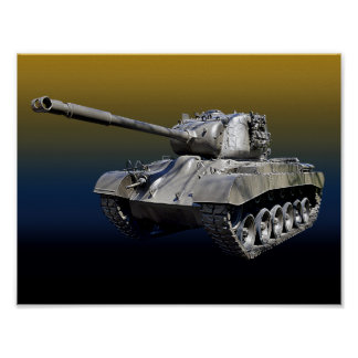 "Lone Tank 8-1/2"" x 11"" Poster"