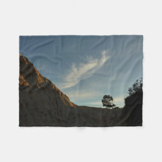 Lone Torrey Pine California Sunset Landscape Fleece Blanket