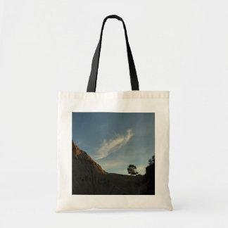 Lone Torrey Pine California Sunset Landscape Tote Bag
