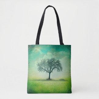 Lone Tree And Sky Tote Bag