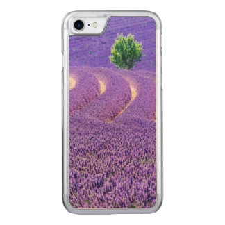 Lone tree in Lavender Field, France Carved iPhone 7 Case