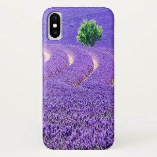 Lone tree in Lavender Field, France iPhone X Case