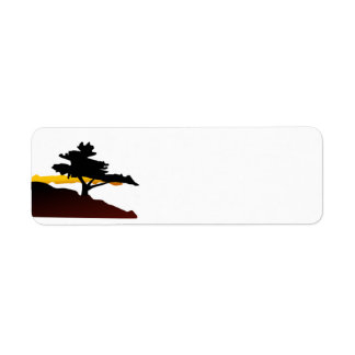 Lone Tree on a Mountain Return Address Label