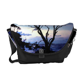 Lone Tree on Shore Courier Bag