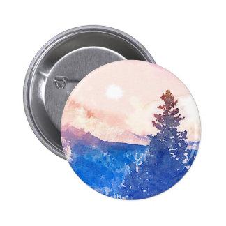 Lone Tree Watercolor 6 Cm Round Badge