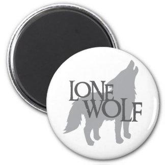 LONE WOLF 6 CM ROUND MAGNET