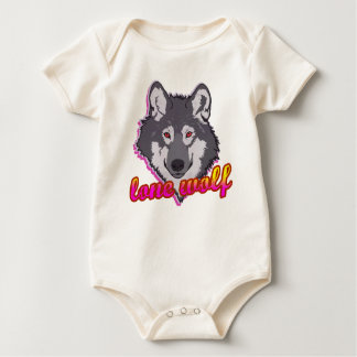 Lone Wolf, 80's style! Baby Bodysuit