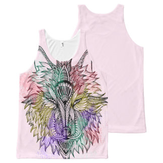 Lone Wolf Color All-Over Print Singlet