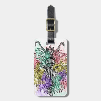 Lone Wolf Color Luggage Tag