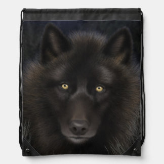 Lone Wolf Draw String Bag