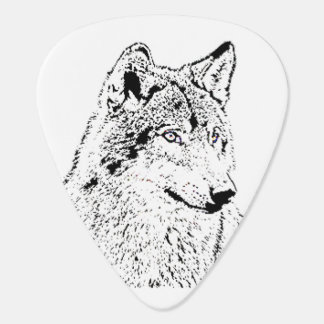 Lone Wolf Guitar Pick