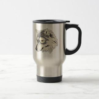 Lone Wolf Head Travel Mug