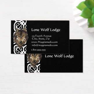 Lone Wolf Lodge Custom Business Card