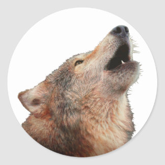Lone Wolf - Multi-Products Classic Round Sticker