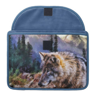 Lone Wolf Nature Landscape Macbook Computer Sleeve MacBook Pro Sleeves
