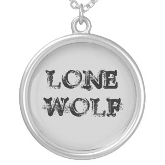 LONE WOLF ROUND PENDANT NECKLACE