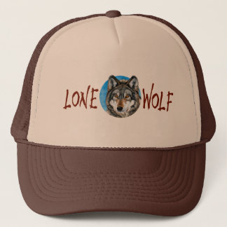Lone Wolf Painting Trucker Hat