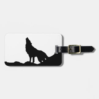 Lone Wolf Standing on a Hill Luggage Tag