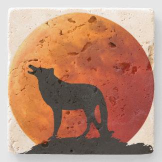 Lone Wolf Stone Coaster Stone Coaster