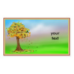 Lonely Autumn Tree Business Cards