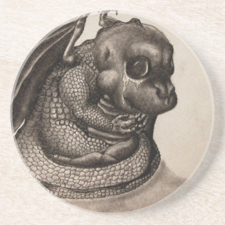Lonely Baby Dragon Beverage Coasters