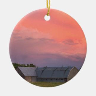 Lonely Barn Ceramic Ornament
