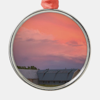 Lonely Barn Metal Ornament