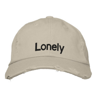Lonely (baseball cap) embroidered hat